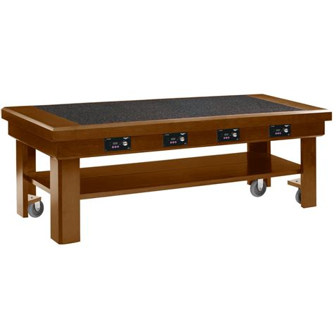 vollrath 7552383 76 quot oak induction buffet table with 4