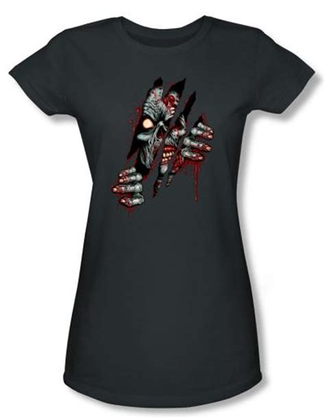 zombie t shirt tutorial zombie juniors t shirt clawing free charcoal tee shirt