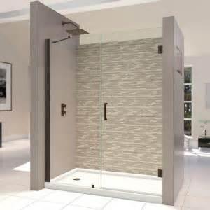 home depot frameless shower doors dreamline unidoor 58 to 59 in x 72 in semi framed hinged