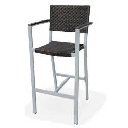 Bar Stools For Outside Outdoor Resin Wicker Fiji Bar Stool W Arms Bar