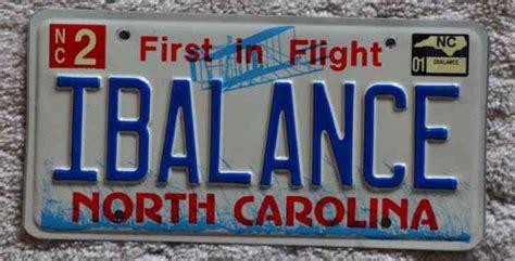 nc carolina real vanity pnp license plate i