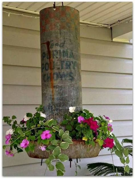 Chicken Feeder Planter by Best 25 Chicken Feeder Decor Ideas On The