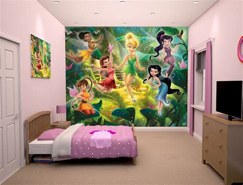 tinkerbell bedroom wallpaper disney fairies wallpaper mural wall murals ireland