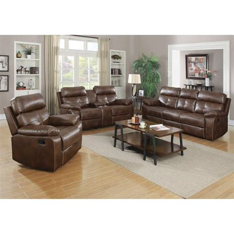 coaster reclining sofa coaster damiano faux leather motion reclining sofa set in