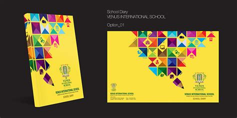 design diary cover school diary cover page design on behance