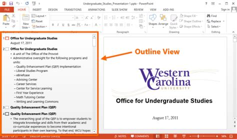 Powerpoint Tip Start Your Presentation With An Outline Powerpoint Tips And Tutorials Powerpoint Outline Template