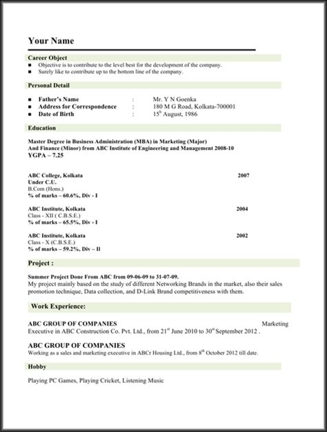 Mba Vs Phd Engineering Resume by Student Resume Template For Free Formtemplate
