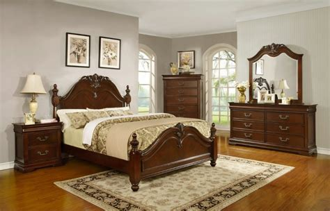 Traditional Cherry Bedroom Furniture Formal Traditional King Size Antique Style Celina Bedroom Bed Cherry Furniture Ebay