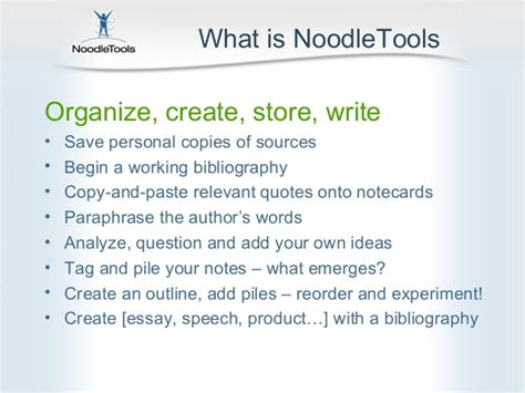 Creating A Bibliography by Noodle Tools Creating A Bibliography