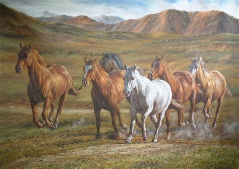 painting horses watercolor paintings current place sinoorigin