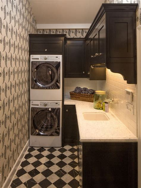 black and white small bathroom design hide a washer and