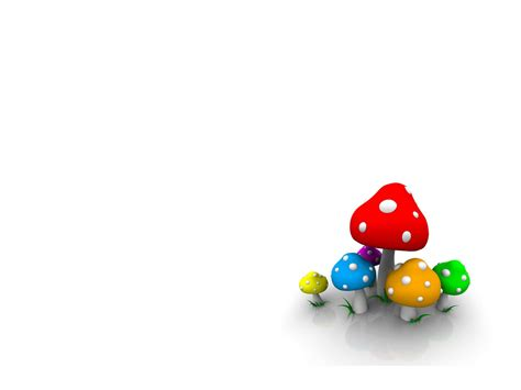 Free 3d Animation 3d 3d Mushroom Free Ppt Backgrounds 3d Animated Templates For Powerpoint Free