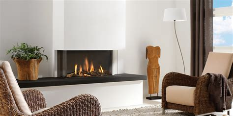 modern sided fireplace three sided gas fireplace trisore 95 by element 4