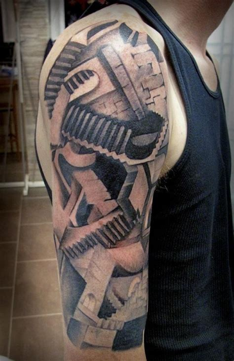 staircase tattoo stairs tim ashman tattoos mc escher