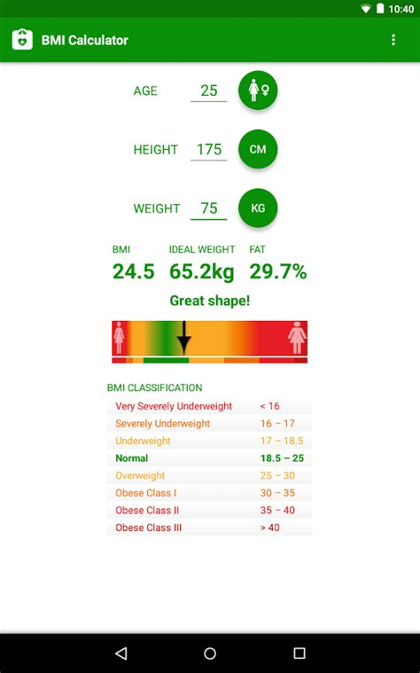 best bmi calculator bmi calculator android apps on play