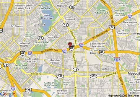 map us dallas map of 8 motel dallas dallas