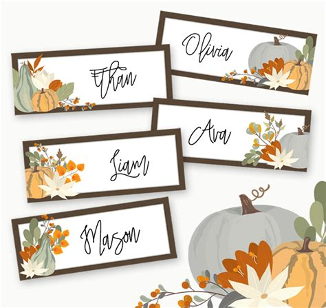 free printable thanksgiving place cards template free printables archives designer blogs