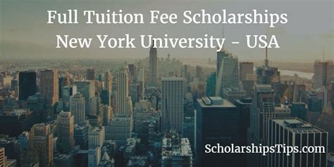 Tuition Free Mba Degree In Usa by New York Scholarships Tips