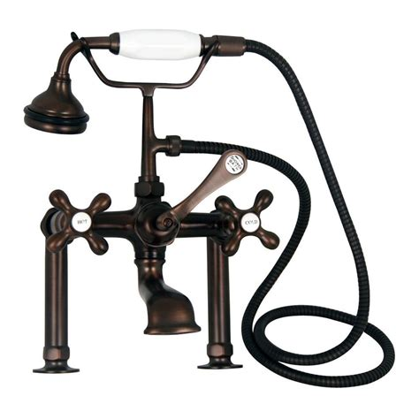 Barclay Plumbing Fixtures by Barclay Products Metal Cross 3 Handle Claw Foot Tub Faucet