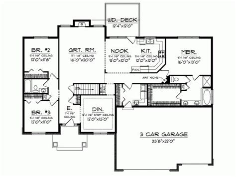 ranch rambler floor plans ranch 2300 sq ft house plans rambler house plans rambler house and house plans