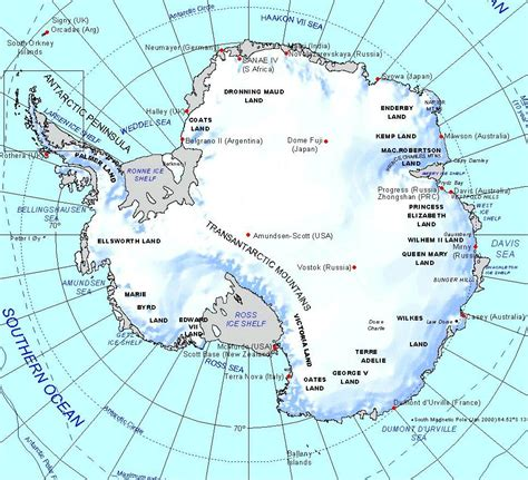 map of antarctica maps antarctic region map