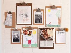 Clipboard Gallery Wall - The Chic Site Clip Art Hang Loose