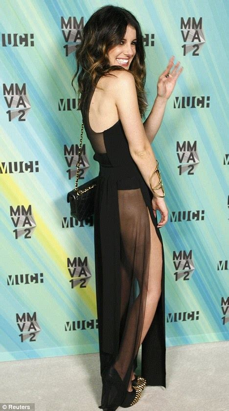 MuchMusic Video Awards 2012: Shenae Grimes puts her pins on parade in daring dress with slits to