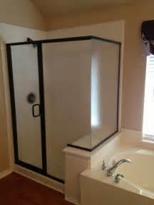 Semi frameless shower enclosure hurst glass and screen