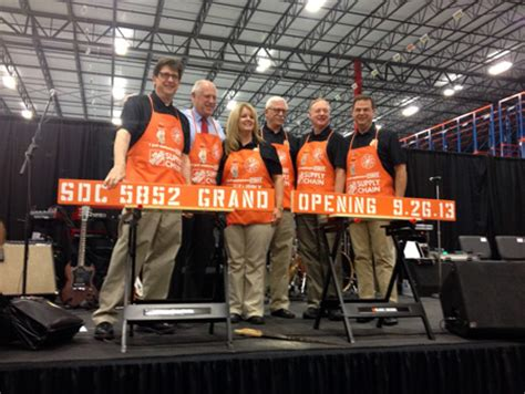 home depot unveils 1 6 million square foot distribution