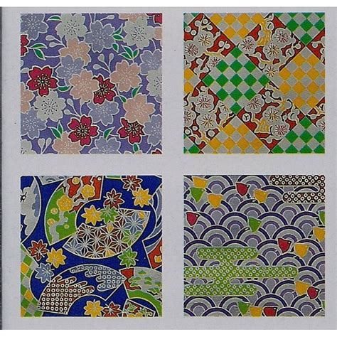 Origami Sheets To Print - origami paper chiyogami print foil 150 mm 12 sheets