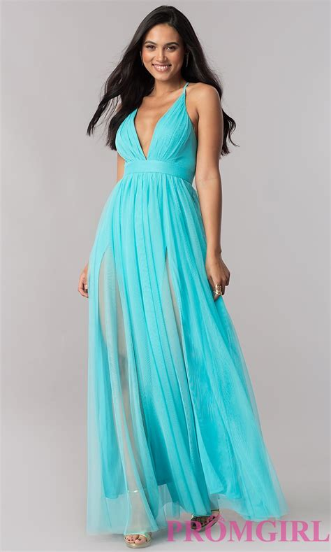 Luxe To Less Tulle Prom Dress by Cheap V Neck Tulle Prom Dress Promgirl