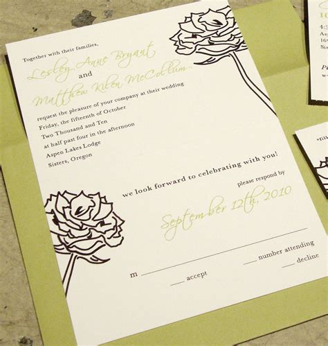 Wedding Invitation Rsvp by Custom Wedding Invitation Tear Rsvp Postcard