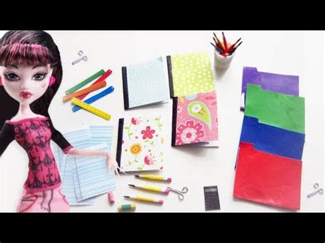 for to make at school how to make doll school supplies