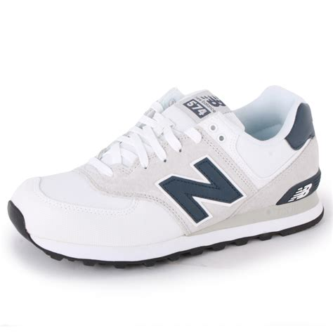 new balance 574 ml574cvw womens canvas trainers white navy