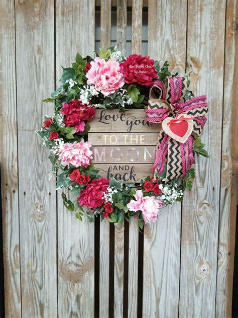 valentines day wreath  front door valentines gift