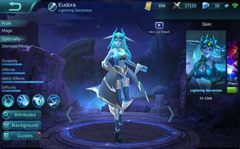 electrify  eudora guide mobile legends bang bang