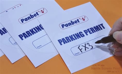 printable windscreen stickers cling parking permit windscreen stickers
