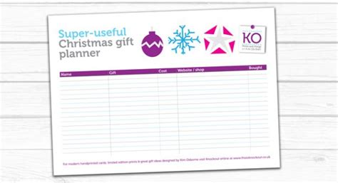free printable christmas gift planner free printable christmas gift planner thisisknockout