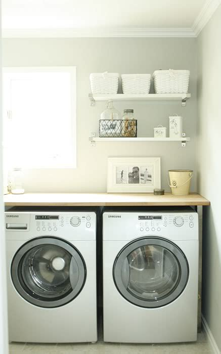 Washer Shelf by Laundry Shelves Country Laundry Room