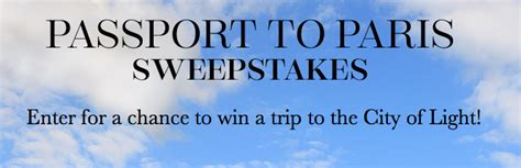 Passport To Paris Sweepstakes - win a trip to paris 1 000 gift card michael w travels