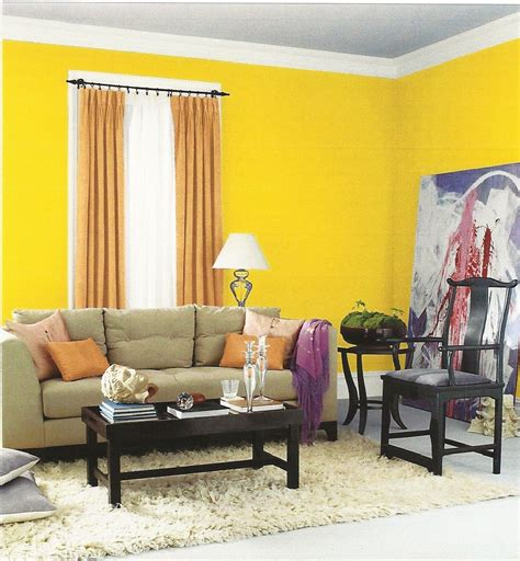 interior designs beautiful small space yellow paint color