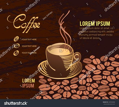 coffee menu wallpaper vector coffee cup on background menu stock vector