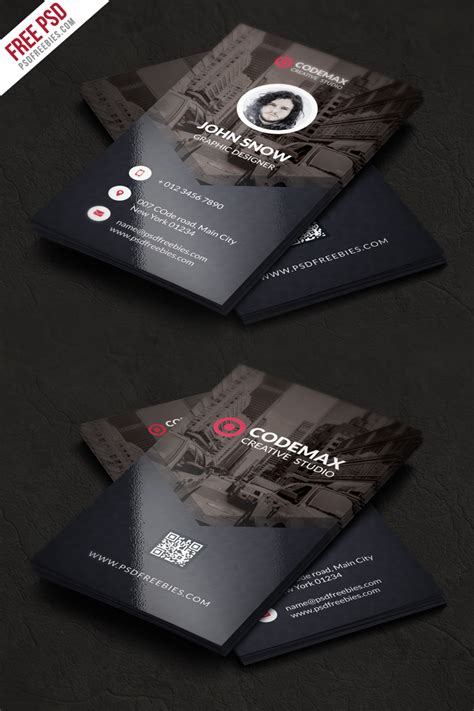 business card oultet template modern business card free psd template psdfreebies