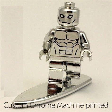 Silver Surfers Custom custom lego heroes marvel silver surfer minifigure chrome machine printed ebay