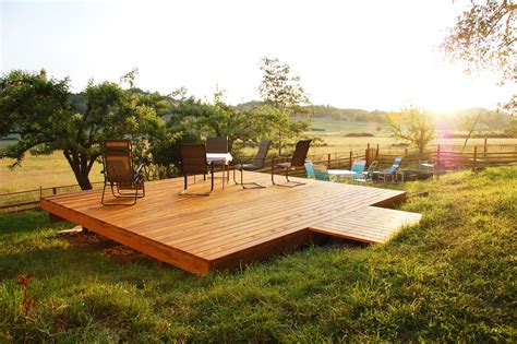deck in the backyard what is a freestanding deck and why would you want one