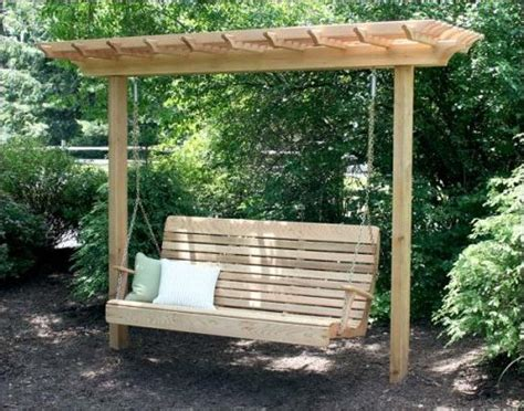 swing for backyard plans a pergola swing pdf woodworking