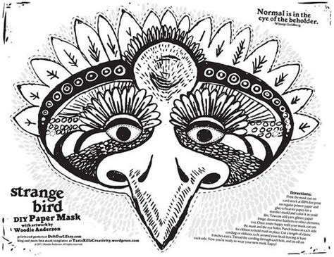 free printable goose mask template diy strange bird mask free printable template paper