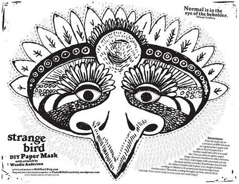 printable goose mask template diy strange bird mask free printable template paper