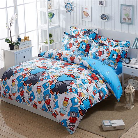 boys queen size bedding kids boys child bedroom cartoon bedding set super twin