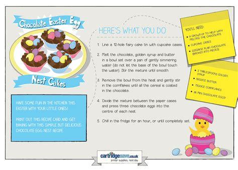 printable easter recipes easter egg nest cakes recipe cartridgesave